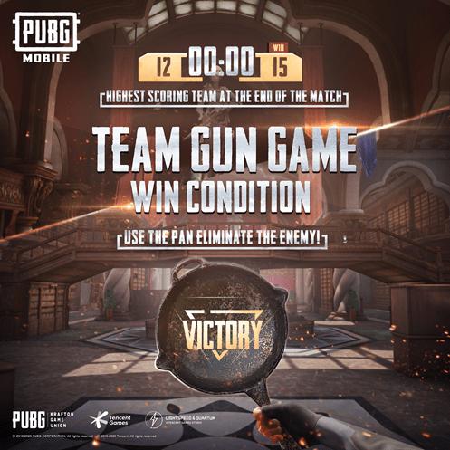 PUBG Mobile team gun mode WIN Condition