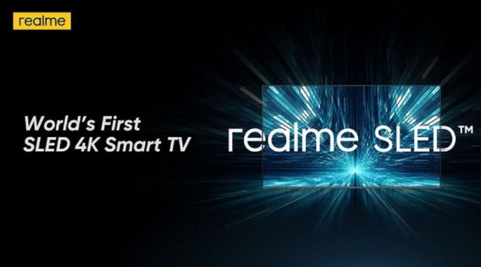 Realme announced World's first 4K SLED Smart TV