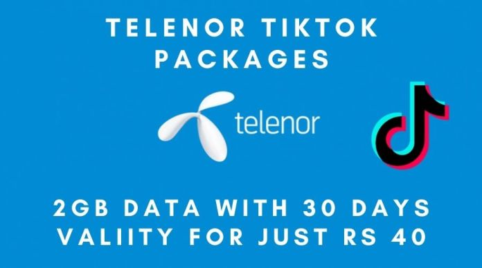 Telenor TikTok Package details: 2 GB data in just Rs 40 with 30 Days Validity!