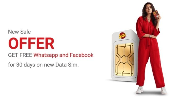 Jazz Free WhatsApp and Facebook on New Data Sim