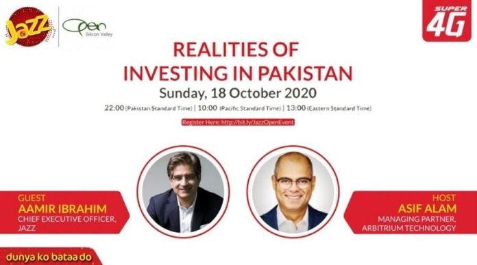 Jazz CEO Aamir Ibrahim to be featured in OPEN Webinar on 'Realities of Investing in Pakistan'
