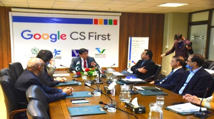 IT Minister started Google's CS First Programme in Pakistan
