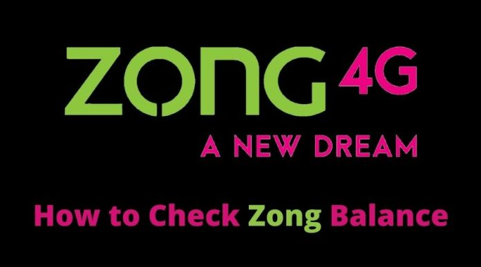 How to Check Zong remaining Balance