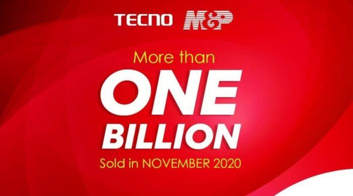 TECNO and M&P Celebrates 1 Billion Sales Record