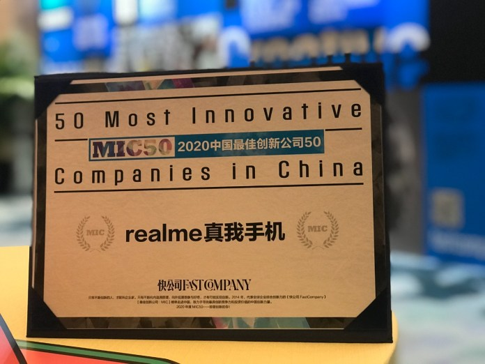 realme 50 Most Innovative Companies in China 2020