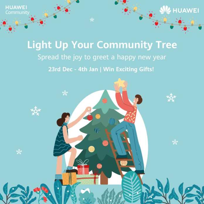 """Huawei brings """"Light up Your Community Tree"""" Activity to Celebrate New Years"""