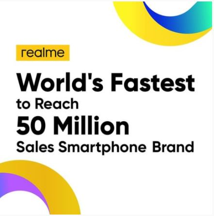 realme 50 million units sold in 2020