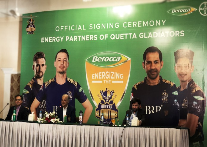 HBL PSL 6: Bayer's Berocca Joins Hands with Quetta Gladiators as Official Energy Partner