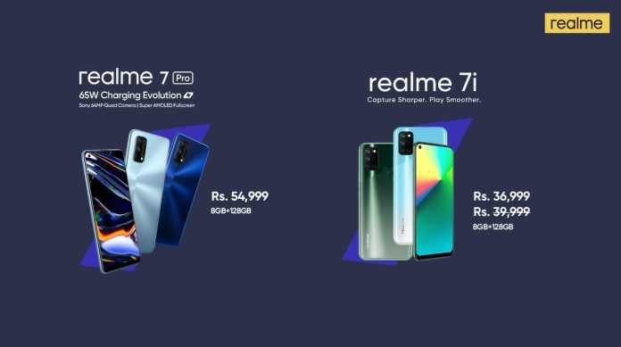 realme 7 pro and 7i price in Pakistan