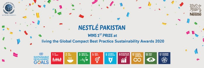 Nestlé Pakistan Wins 1st Prize at 'Living the Global Compact Best Practice Sustainability Awards 2020'