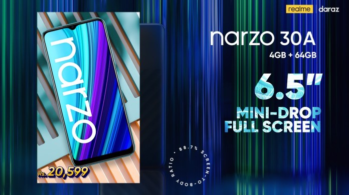 realme offers Narzo 30A as a budget-friendly gaming phone with MediaTek Helio G85 processor, 6000mAh Battery, and Reverse Charging