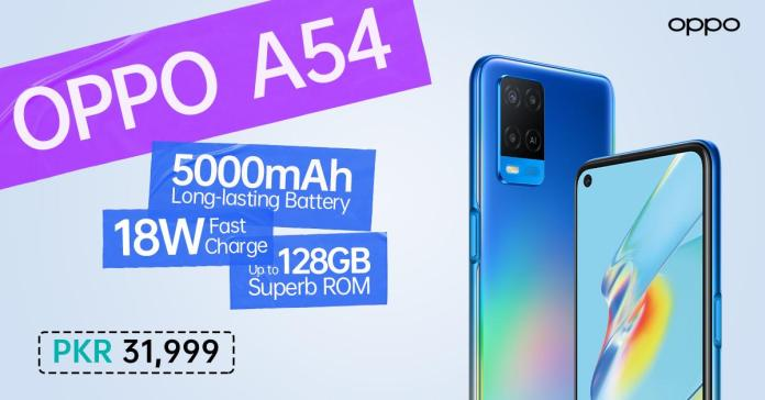 OPPO A54 gets Launched in Pakistan