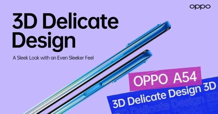 OPPO A54 Design