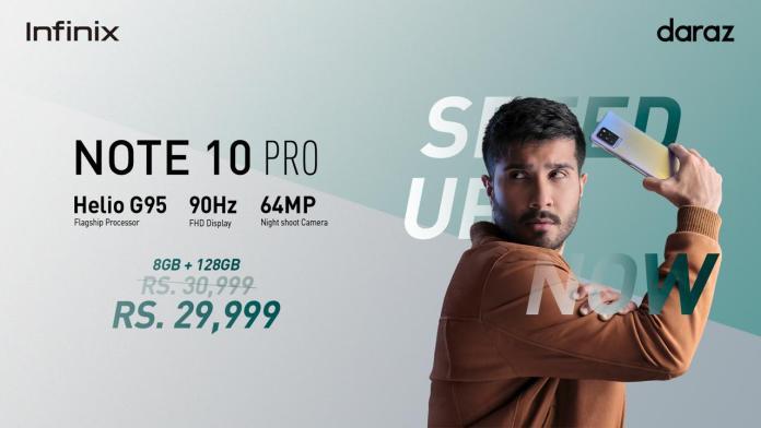Infinix NOTE 10 Pro launched Feroze Khan