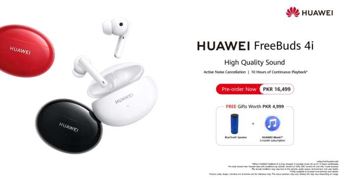 HUAWEI FreeBuds 4i Pre-bookings is now Open all over Pakistan