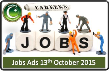Daily Pakistani Jobs Ads 13th October 2015