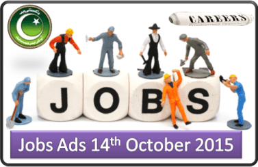 Daily Pakistani Jobs Ads 14th October 2015