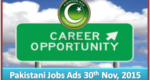 Daily Job Ads 30th Nov 2015