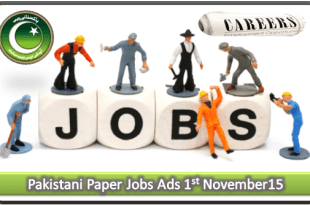 Pakistani Paper Jobs Ads 1st November 2015