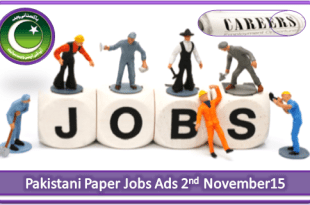 Pakistani Paper Jobs Ads 2nd November 2015