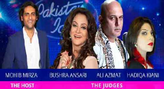 Host Judges in Pakistan Idol GEO TV