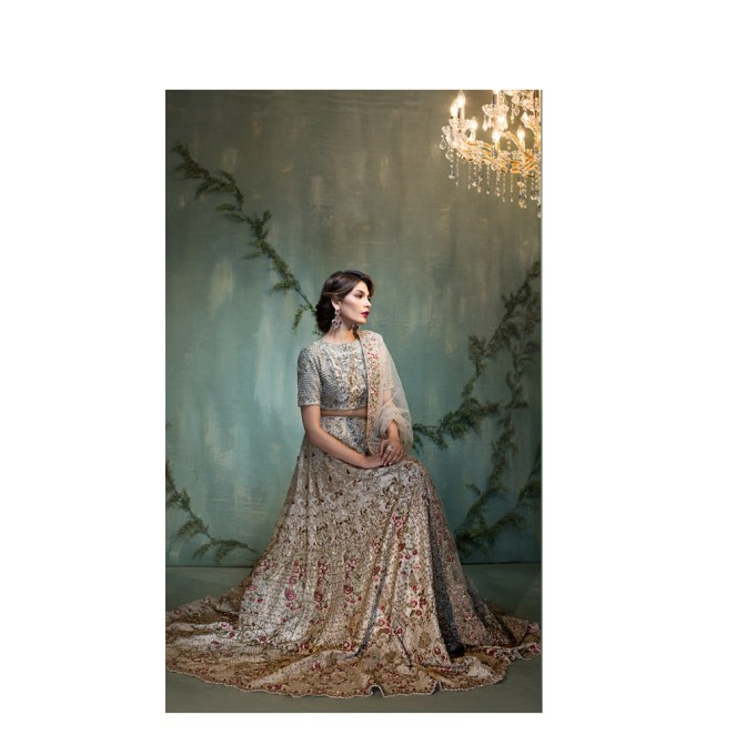 Green bridal by pakistani ready to wear pret for Ready to wear wedding dresses online