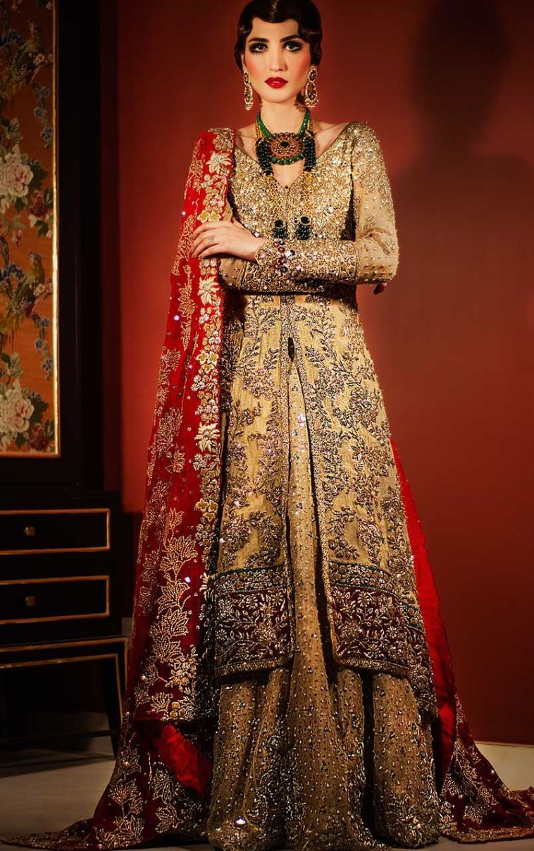 Buy This Beautiful And Elegant Traditional Wedding Dress By Pakistani Lengha At A Reasonable Price
