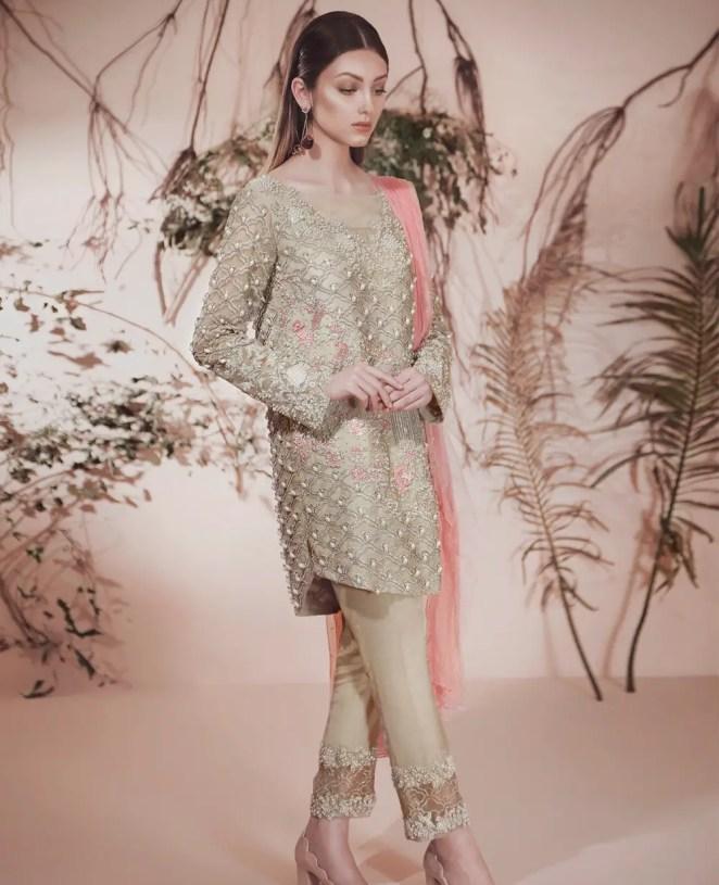 Peach Symphony 3 Piece Ready To Wear Pakistani Formal Dress By