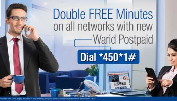 Warid Postpaid Double Free Minutes