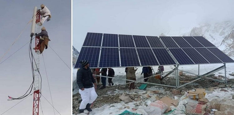 Pakistan has installed At K2 base camp, 1st-ever mobile phone tower
