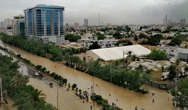 کراچی میں بدترین طوفانی بارش نے پورا شہرڈبودیا