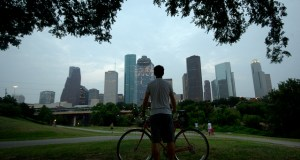 Houston is expected to triple the existing bikeway miles and provide six times more high comfort bikeways miles than what exists now. (Photo by Adam Baker, Creative Commons License)
