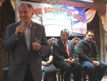 Comptroller George Maragos addressing a reception of Khyber Society in Hempstead, Long Island on April 22. (PW photo)