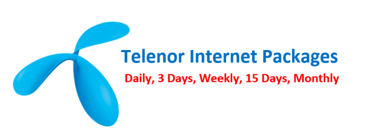 Telenor internet Packages Daily, Weekly, Monthly