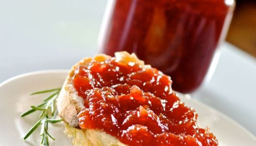 Cherry Jam with Rosemary