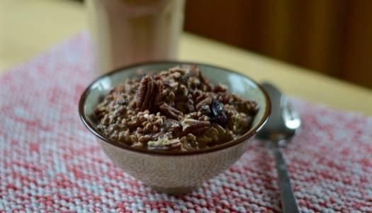 Cocoa porridge with overnight oats