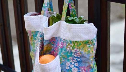 My new handmade veggie harvest bag