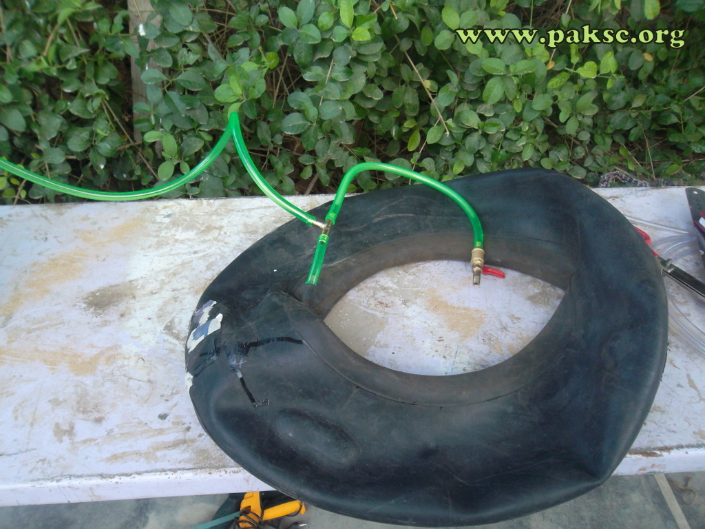 biogas plant storage by tyre tube