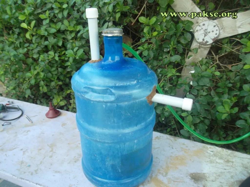 20 litter bottle as Biogas plant