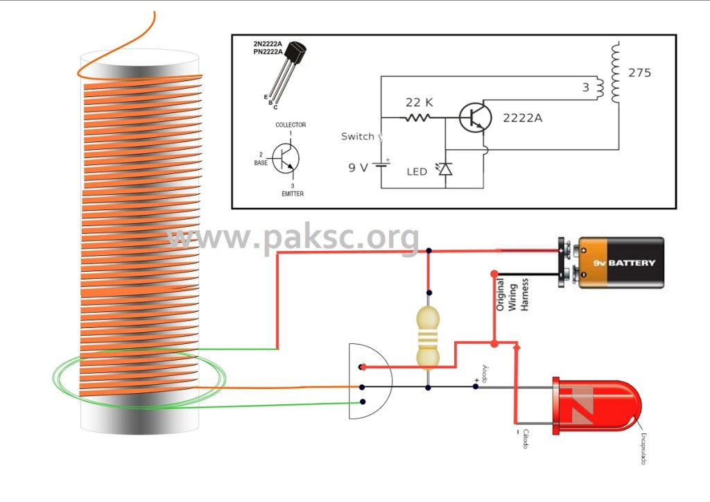 Simple solid state Tesla coil also called slayer exciter circuit diagram