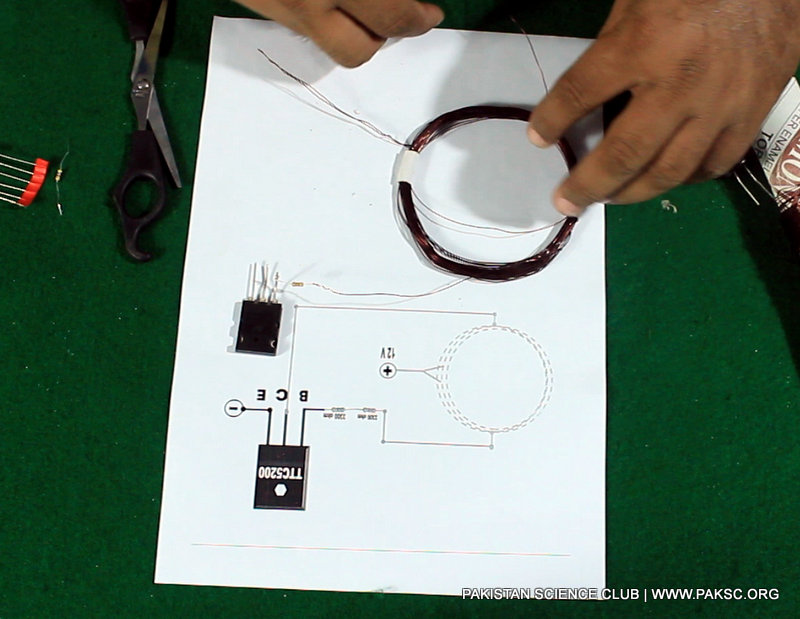 Wireless electricity transfer project diagram 2