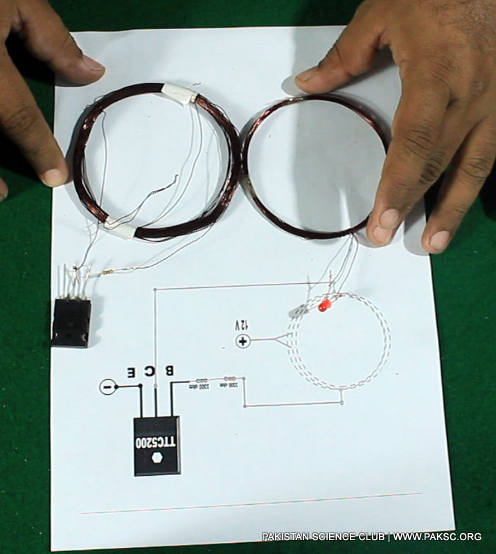 Wireless electricity transfer project diagram 4