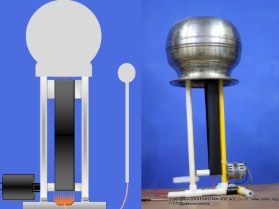 DIY Van De Graaff Generator Using PVC pipe