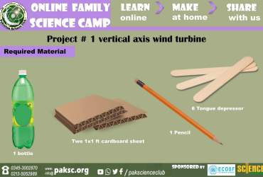 material Project # 1 vertical axis wind turbine