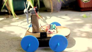 How to make air propeller car | STEAM science project