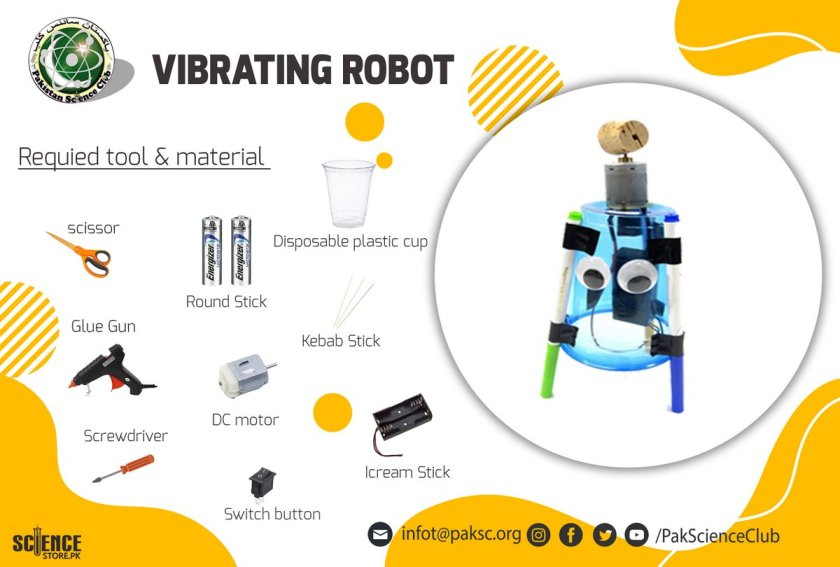 material and tool list VIBRATING ROBOT.