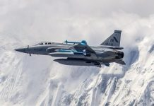 Pakistan Air Force flying higher than the Himalayas