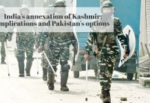 India's annexation of Kashmir: Implications and Pakistan's options