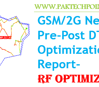 Network Pre-Post DT RF Optimization report