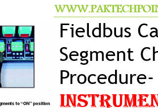 Fieldbus Cable and Segment Check Procedure